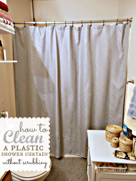 how to clean shower curtain liner with vinegar