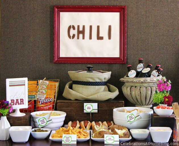 A Chili Bar from Celebrations at Home