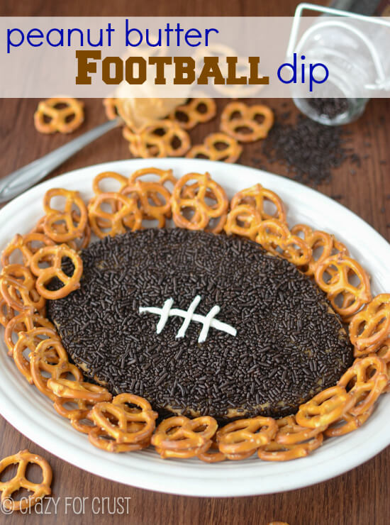 Peanut Butter Football Dip from Crazy for Crust