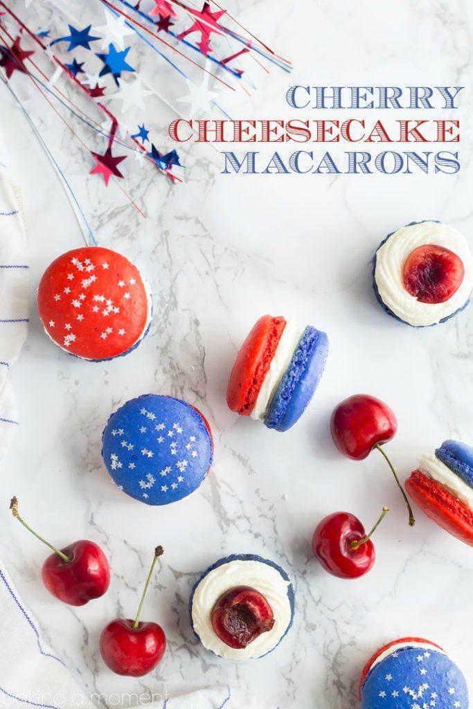 Cherry Cheesecake Macarons