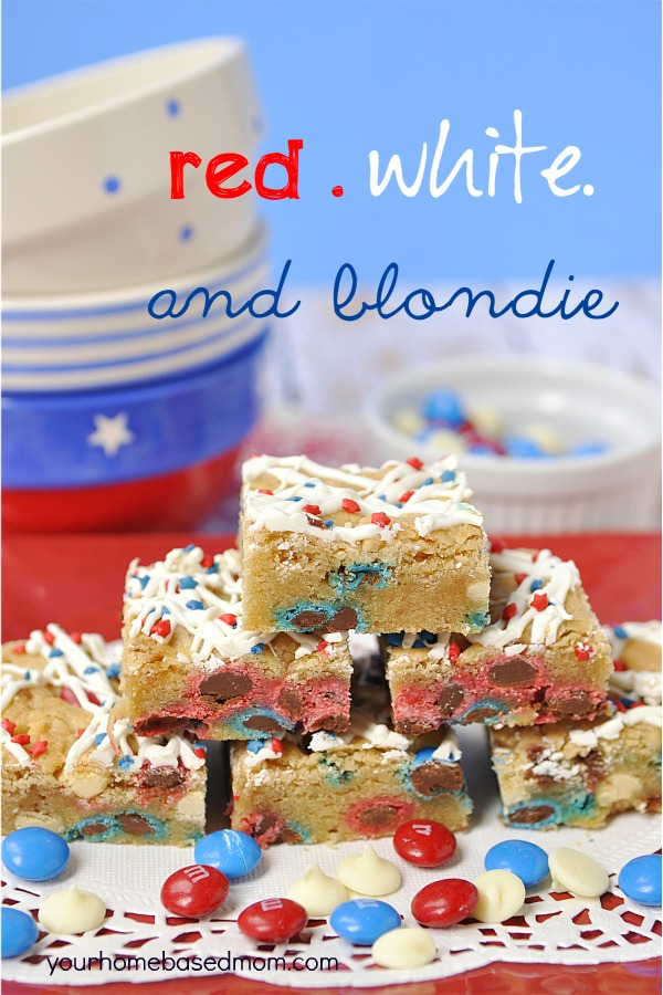 Red White and Blue Blondies Your Home-Based Mom